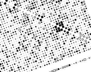 Matrix of squares of different sizes