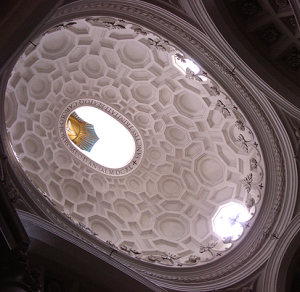 Dome of church from the inside
