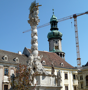 Baroque statuary and Fire Tower