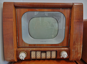 Old wooden framed television