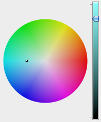 Colour wheel and slider bar