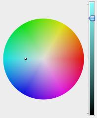 Colour wheel and slider bar