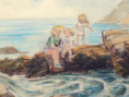 Thumbnail of family with laptop looking into rockpool. Click to go to original page.