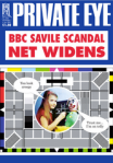 Thumbnail image of magazine cover showing joke on BBC test card