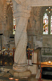 Twisted stone column