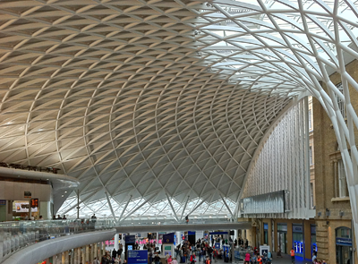 Shows ribbed roof structure