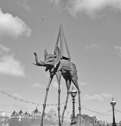 Dali exhibition promotion, near Vauxhall Gardens site