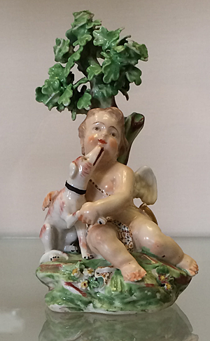 Cupid with dog